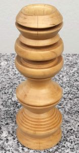 Kerzenständer aus Birkenholz 4,5 x 13,5 cm