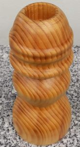 Kerzenständer aus Fichtenholz 8,5 x 18,5 cm