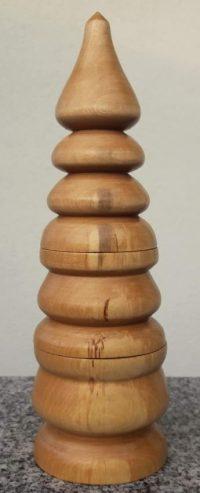 Doppeldose aus Birkenholz
