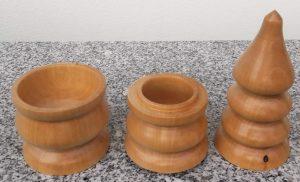 Doppeldose aus Birkenholz, 7 x 23 cm
