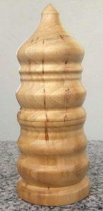 Kleine Dose aus altem Walnussholz, 5,5 x 15 cm