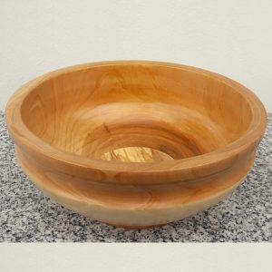 Schale aus Kirschen- und Buchenholz 18 x 8 cm