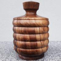 Dose aus altem Walnussholz, 11 x 16 cm