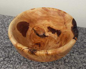 Schale aus alter Palmweide 19 x 10 cm