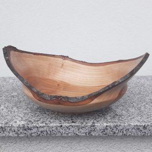 Schale aus junger Kirsche mit Rindenrand 24 x 10 cm