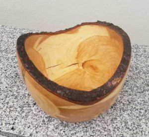 Tiefe Schale aus Traubenkirsche 16 x 13 cm