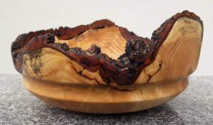 Schale aus alter Palmweide 24 x 11 cm