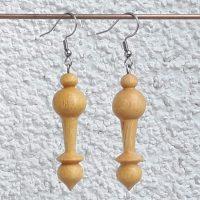 Ohranhänger aus Feigenholz, 12 x 45mm
