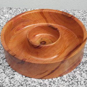 Schale aus altem Zwetschkenholz