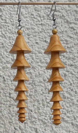 Ohranhänger China2 aus Marillenholz