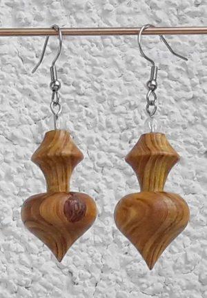Ohranhänger Herz-Karo aus Perückenstrauchholz