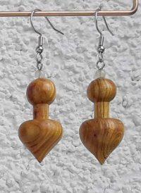 Ohranhänger Herz-Kugel aus Perückenstrauchholz