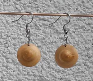 Ohranhänger UFO aus Marillenholz