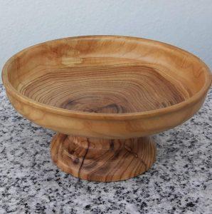 Antikschale aus Marillenholz 12,5 x 6 cm