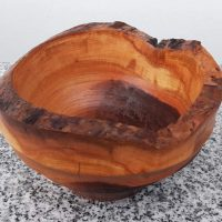 Schale aus altem Kirschenholz, 14 x 8 cm