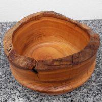 Schale aus Kirschenholz, 16 x 8 cm