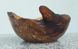 Schälchen aus altem Apfelholz, 14,5 x 5,5 cm