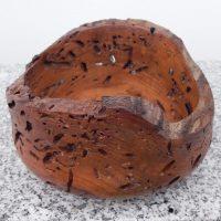 Schale aus altem Kirschenholz – von der Natur modeliert, 15 x 8,5 cm