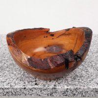 Rustikale Schale aus alter Kirsche 15 x 8 cm