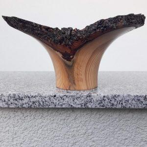Flügelschale aus Marillenholz 22,5 x 11 cm