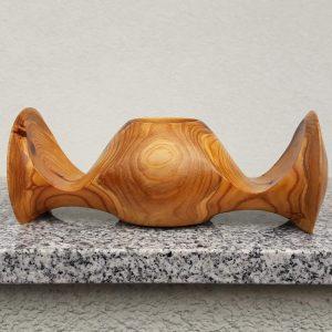 Flügelbecher aus Marillenholz 21 x 7,5 cm
