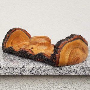 Wellenbecher aus Marillenholz 25 x 6,5 cm