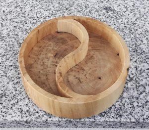 Schale Yin Yang aus Ahornholz 12 x 3,5 cm