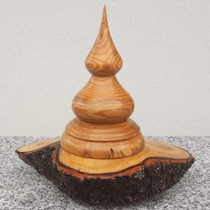 Fantasiedose aus Marillenholz 20 x 20 cm