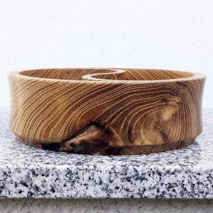 Schale Yin Yang aus Robinienholz 15 x 4,7 cm