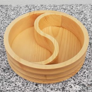 Schale Yin Yang aus Zirbenholz konkav 15 x 5 cm